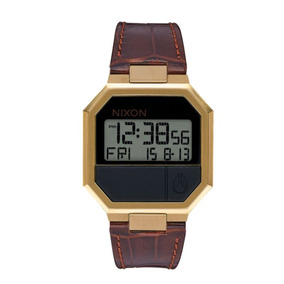Reloj Nixon Re-run Leather Brown Croc A944