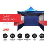 Carpa 3 H Plegable Comlpeta Techo+paredes+estacas Aluminio