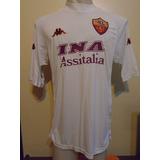 Camiseta Roma Italia Kappa 2000 2001 Totti #10 Selección L