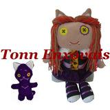 Boneca Monstro Lobinha 46cm Com Mascote Em Plush E Tecido