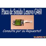 Placa De Sonido Lenovo G460