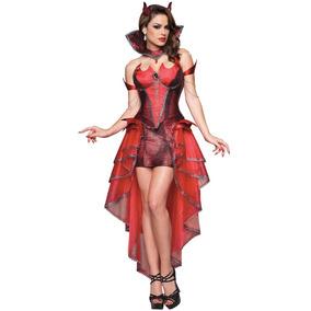 Disfraz Diabla Adulto Mujer Diablita Halloween Diablo Sexy