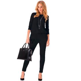 Palazzo Negro Enterizo Jumpsuit Moda Dama Tallas Extras Blus