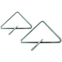 2 Triangulo Musical Profissional Aluminio / Instrumento