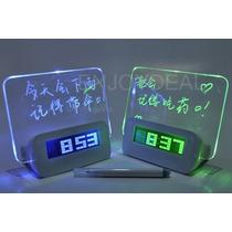 Fino Reloj Con Pantalla De Mensajes Fluorescentes Led
