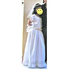 Lindo Vestido Para Primera Comunión, Usado, Talla 9 A 12.