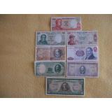 8 Billetes Antiguos De Chile