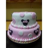 Torta Minnie Dos Pisos Cumpleaños Personalizada Envios
