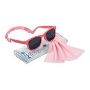 Óculos De Sol Para Bebê Buba Alça Ajustável E Lenço Rosa