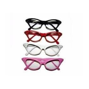 f976fa91dd131 Oculos Anos 60 Gatinha Branco - Calçados