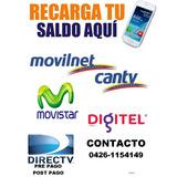 Recargas Para Digitel Inter Directv Movilnet Movistar Tv