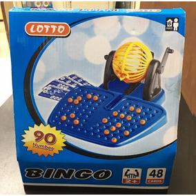Bingo Lotería C/ Bolillero, Tablero 90 Numeros Juego De Mesa
