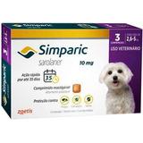 Simparic Combo 10mg P/ Cães 2,6 A 5,0 Kg - 3 Cp (v. 01/2019