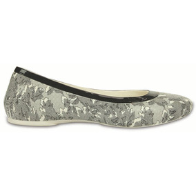 Crocs Originales Crocs Lina Shiny Flat Blanco Mujer 14k