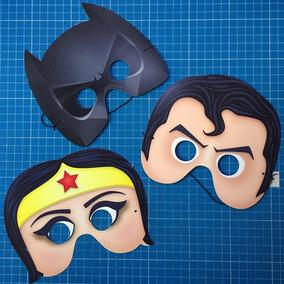 Antifaces De Batman, Superman Y Mujer Maravilla Para Fiesta