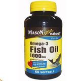 Omega 3 Fish Oil De 1000 Mg Mason Natural 60 Caps Importado