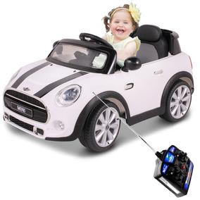 Carrinho Elétrico Mini Cooper 12v Branco Crianças Belfix