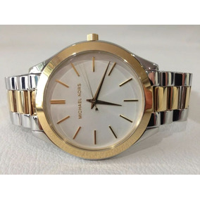 Relógio Michael Kors Slim Dourado Prata Prateado 42mm Mk3198 ... b9de80a654