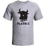 Camiseta Mescla Satira Playboi Engraçadas