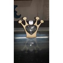 Soporte Corona En Fibrofacil Con Envase Corazón Golosinero