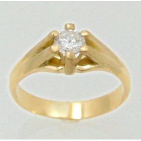 Anel Masculino Pé De Cabra C Diamante 50 Pontos Em Ouro 18