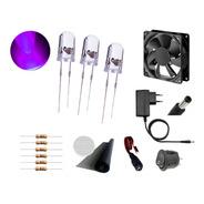 Kit Led Uv Armadilha De Mosquito Led+resistor+fonte+conector