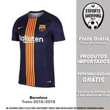b780e01caa Camisa Barcelona 2018 2019 Treino Preto Messi Suárez Arthur