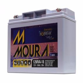 Bateria Moura Estacionária 12v 18ah Vrla Para No-break