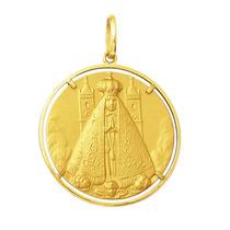 Medalha Pingente Nossa Senhora Aparecida Ouro 18k 8,8 Gr