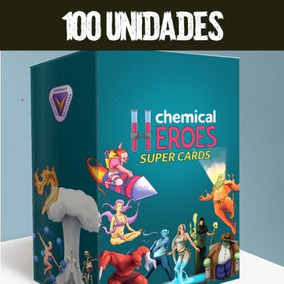 Super Kit Com 100 Unidades - Super Cards Chemical Heroes