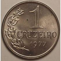 V322 Moeda 1 Cruzeiro De 1977 Fc Apenas 98.000 Peças Rara
