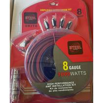 Kit De Cables Para Amplificador Steel Calibre 8