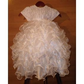 Divino Vestido Escarolas Olanes Tutu 3 Años Fiesta Princesa