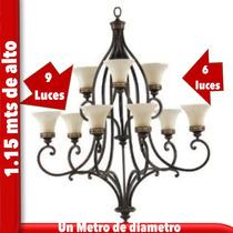 Candil De Herreria Artística Artesanal Colgante 15 Luces