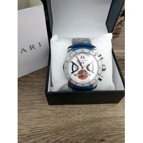 Relógio Masculino Automático Prata Com/ Fd Branco + Frete