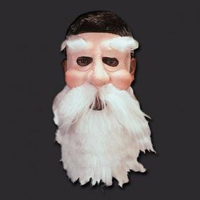 Máscara Velho Papai Noel Realística Silicone Látex Com Barba