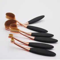 Kit Pincel C/6 Maquiagem Escova Oval Importado-frete Grátis