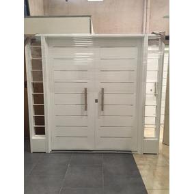 Puerta doble hoja de aluminio aberturas en mercado libre for Puerta doble hoja exterior