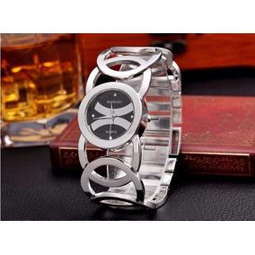 664067245e3 Relógio Feminino Em Aço Inoxidável Envio Internacional