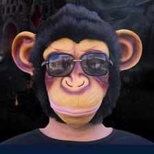 Mascara Careta  Cabeza De Mono Tipo Harlem Shake