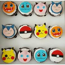 Cupcakes Pokemon Rellenos De Dulce De Leche
