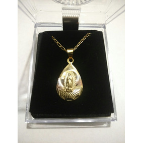Medalla De Oro Virgen De Guadalupe En Forma De Gota