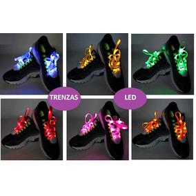 Trenza Led Nylon Zapatos Patines Cordones Luces Colores