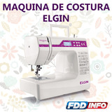 Máquina De Costura Elgin Premium Bivolt Patchowrk 100 Pontos
