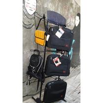 Mueble Exhibidor Negro Para Colgar Bolsas Mochila Accesorios