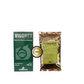 Vermifugo Em Pó Tetramin+vigorex P/crescimento Vacas Cabras
