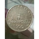 Moeda De 500 Liras Italianas (prata) 1960