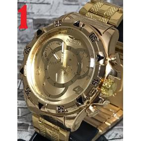 10x Relógio Masculino Prata Dourado Importado + Caixa.
