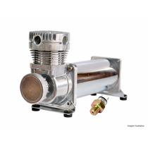 Compressor Para Suspensão A Ar Cromado 480 200psi + Brinde