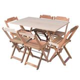 Conjuntos De Mesa Com 6 Cadeiras Dobráveis Bar, Restaurantes